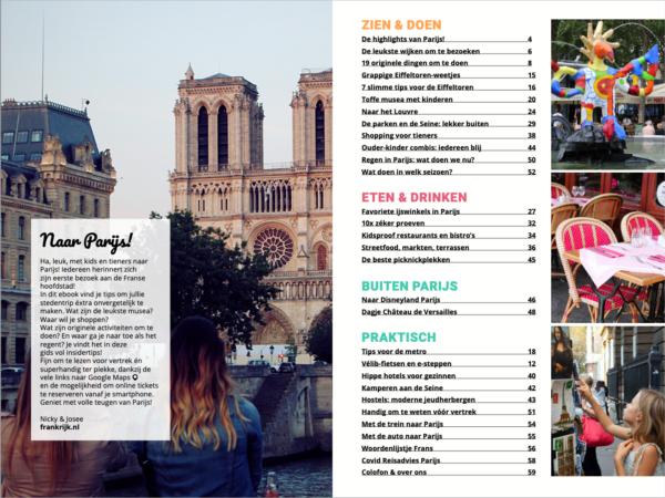 Inhoudsopgave Parijs met kids&tieners